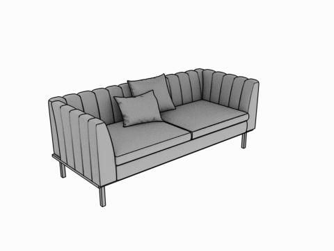 ajout d'un divan dans une création 3d