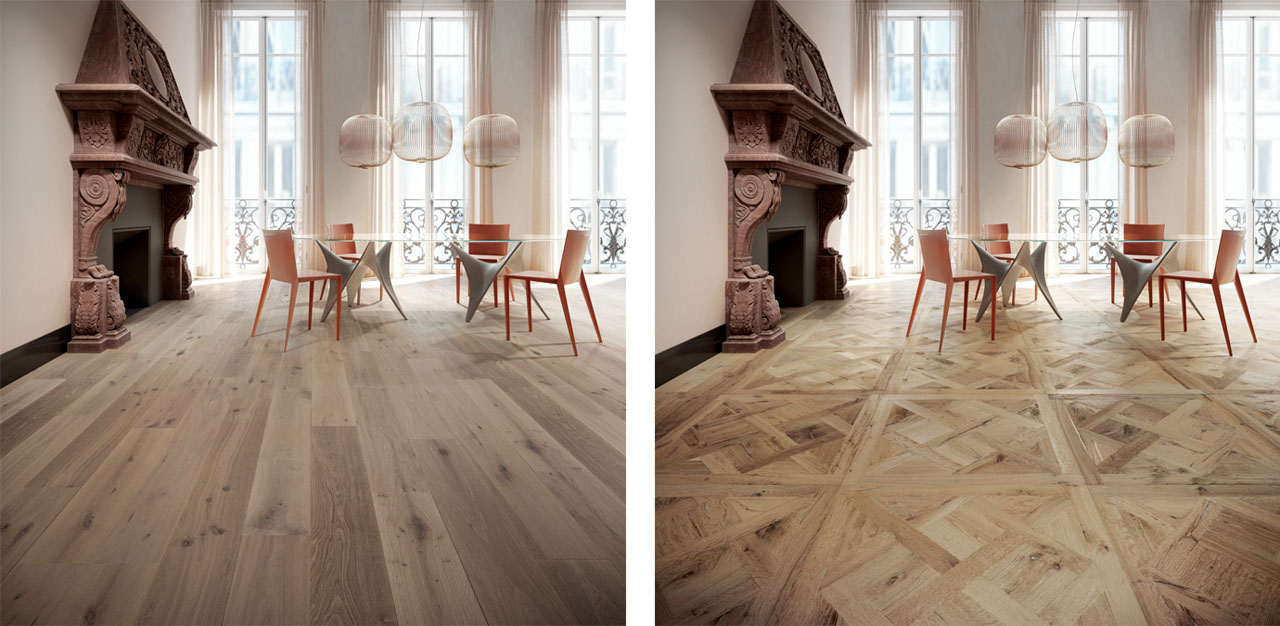 Variation of hardwood flooring 3D images CGI rendering kub studio agency