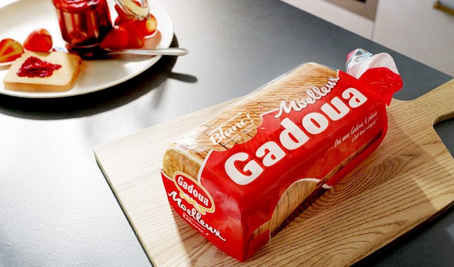Packaging pour pain gadoua - agence Kub studio 3D - rendu photoréaliste