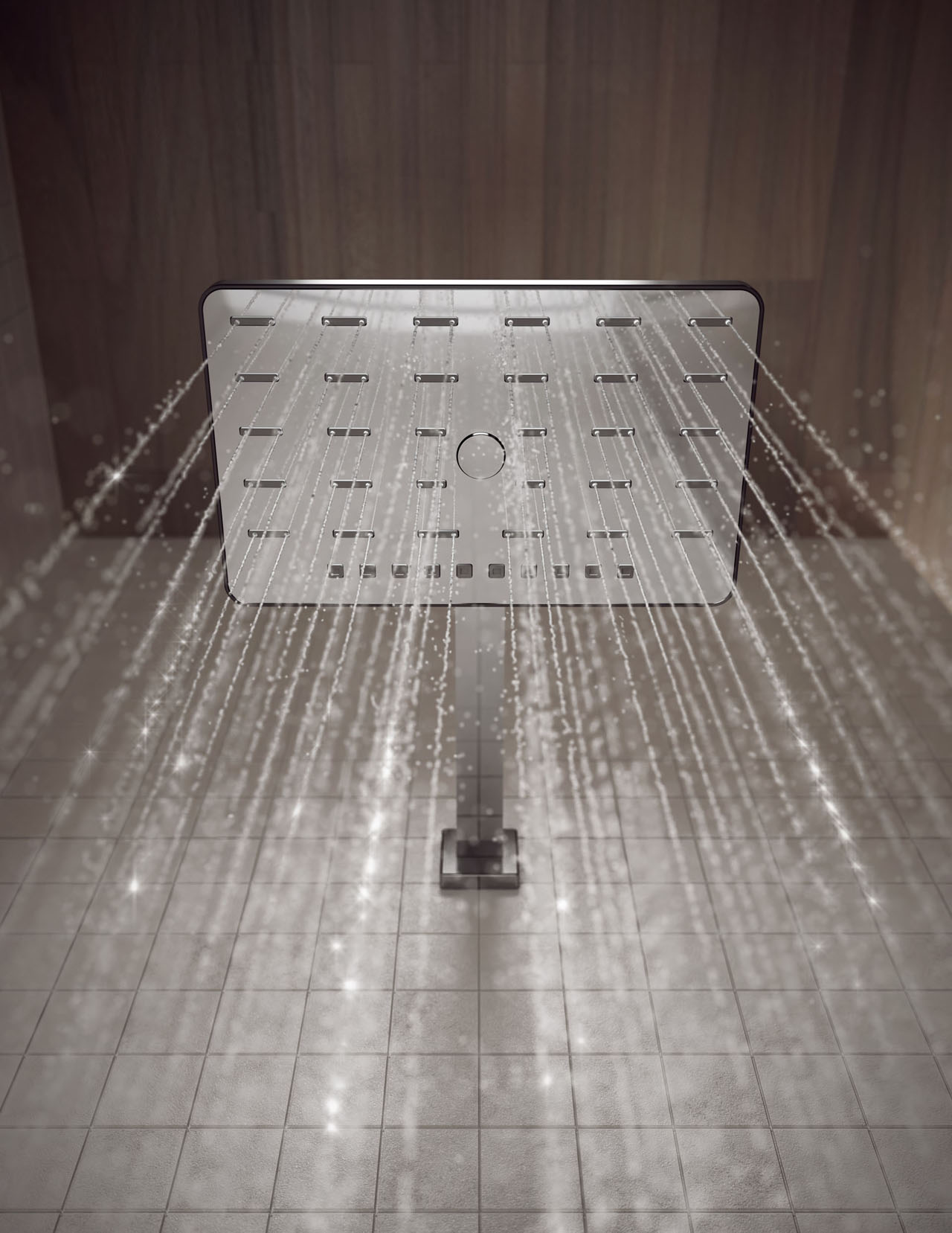 Rain Shower head product in 3D Bathroom kubstudio