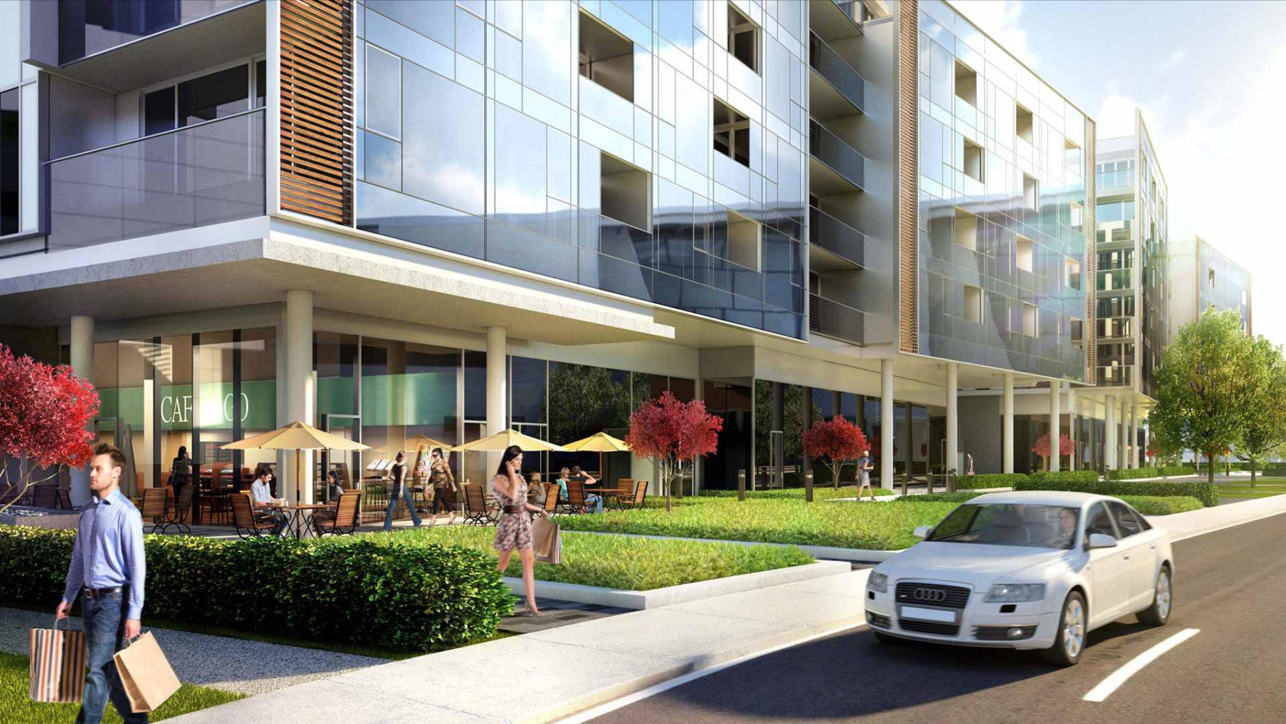 3d designer facade architecture building