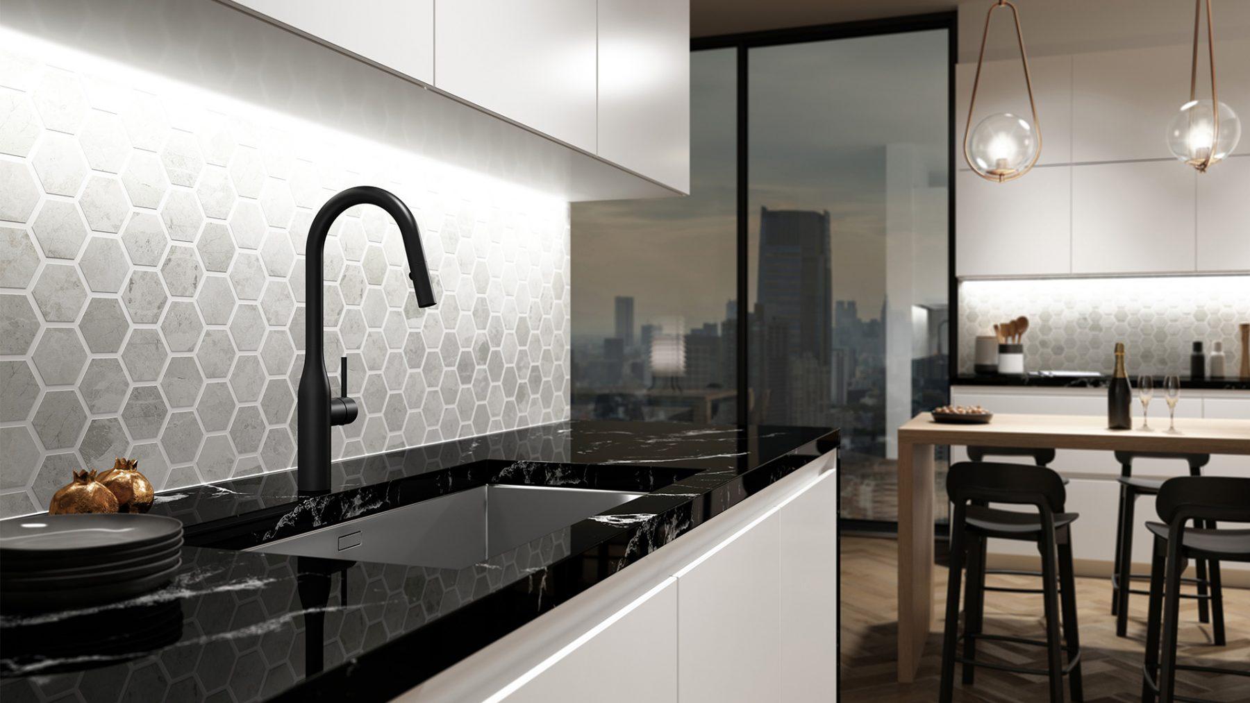 3d design nightlife kitchen black tap