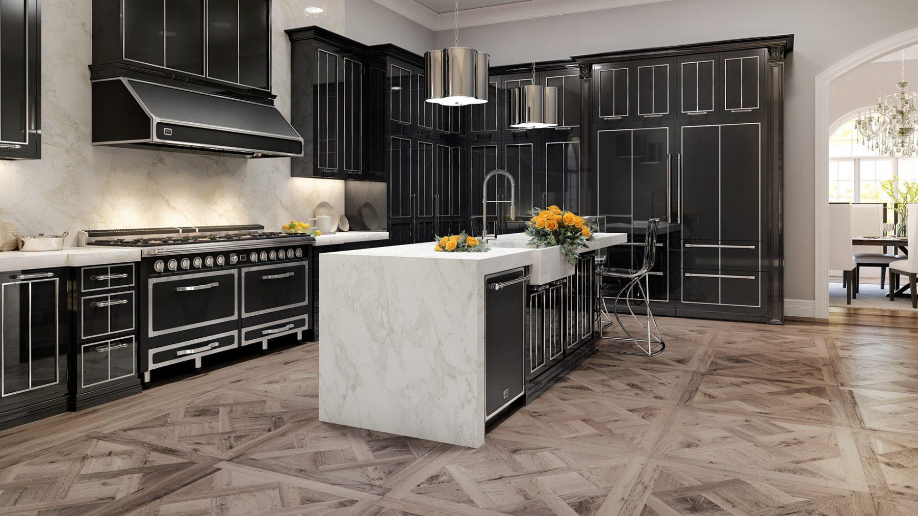 Glamour kitchen 3D render photorealistic