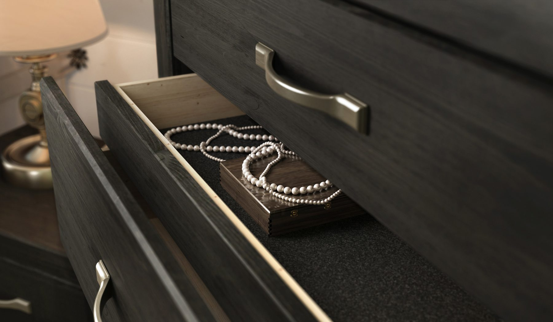 3d draw freelance interior drawer closeup