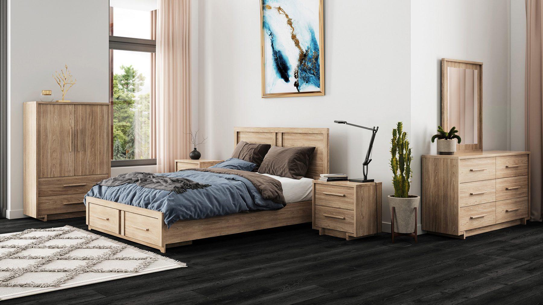 3d furniture rendering modern bedroom