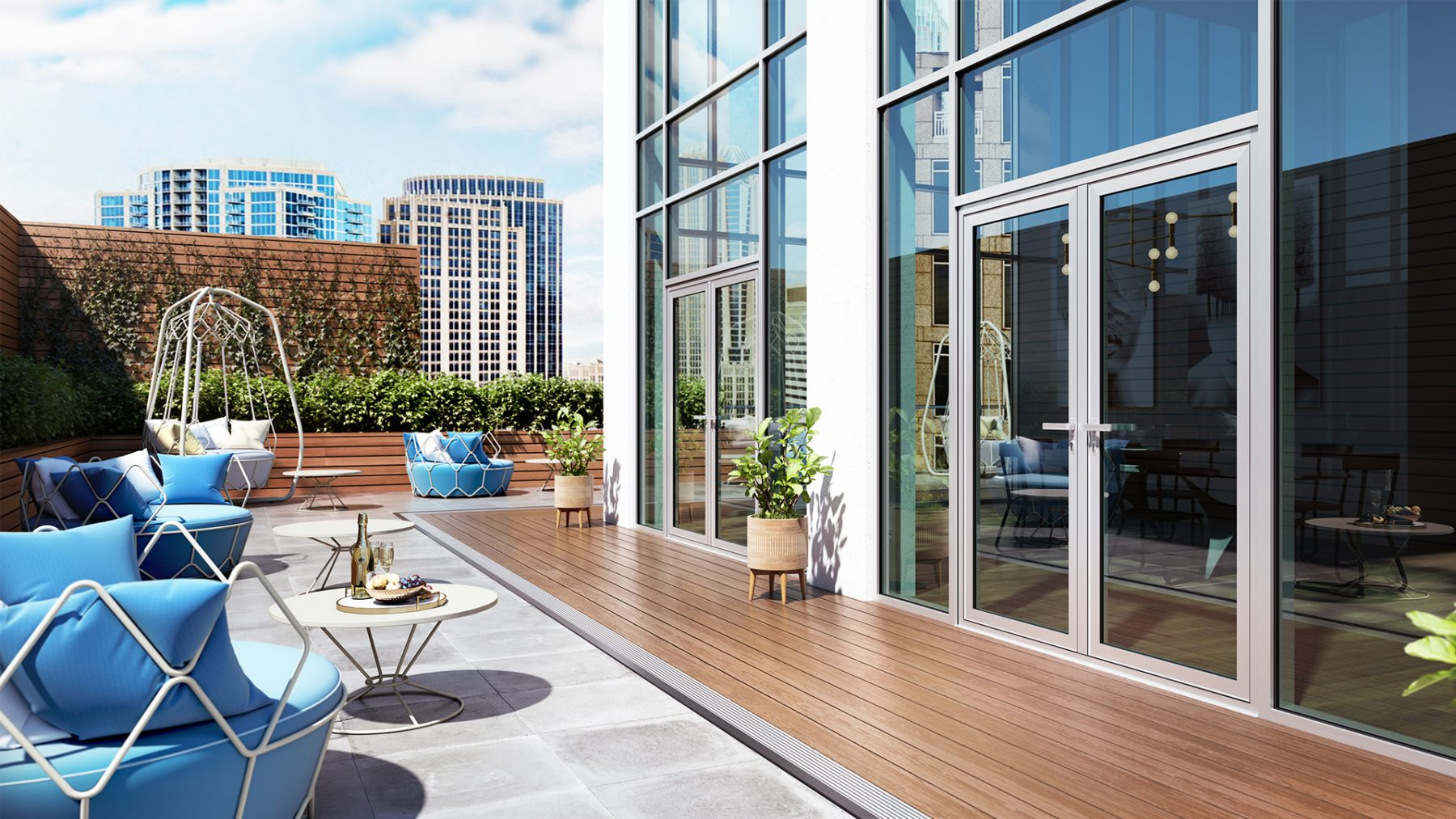 3d patio exterieur terasse meubles soleil urbain