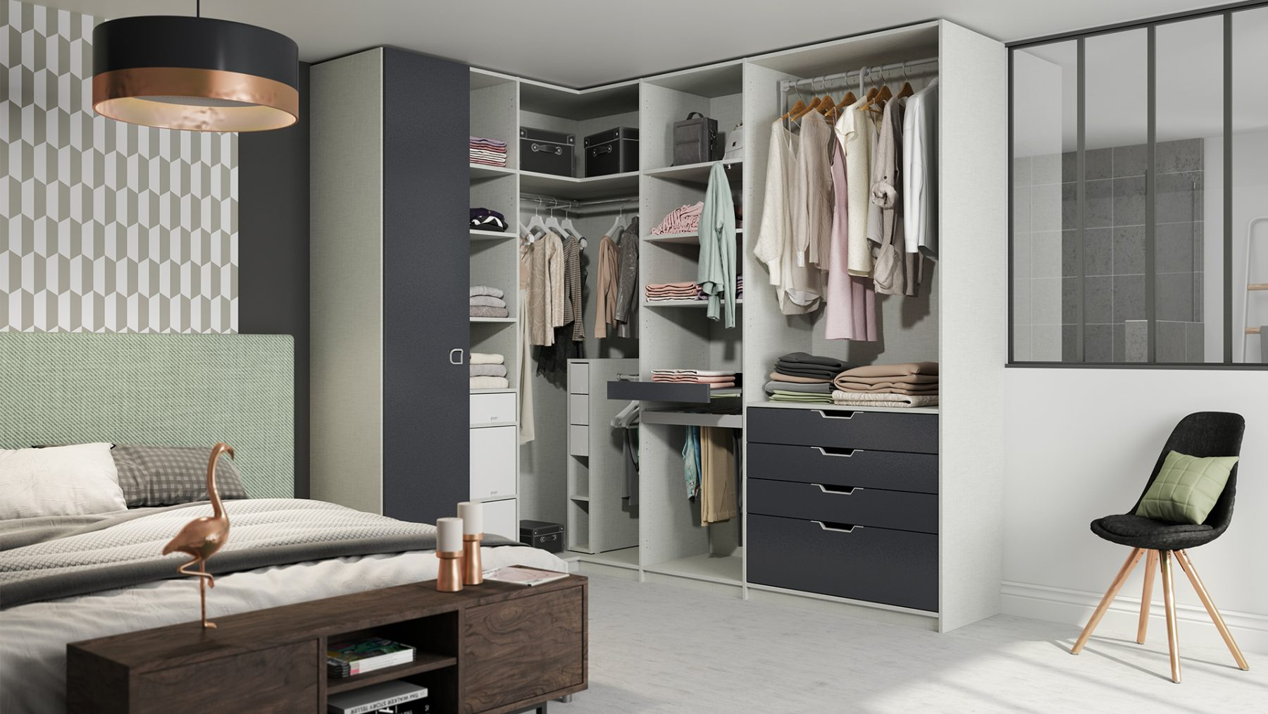 ambiance 3d garde robe organisation chambre modulaire