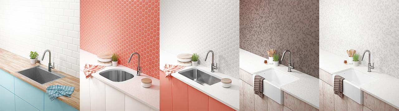 iteration déclinaison 3d image rendu render faucet sink counter pub ad studio
