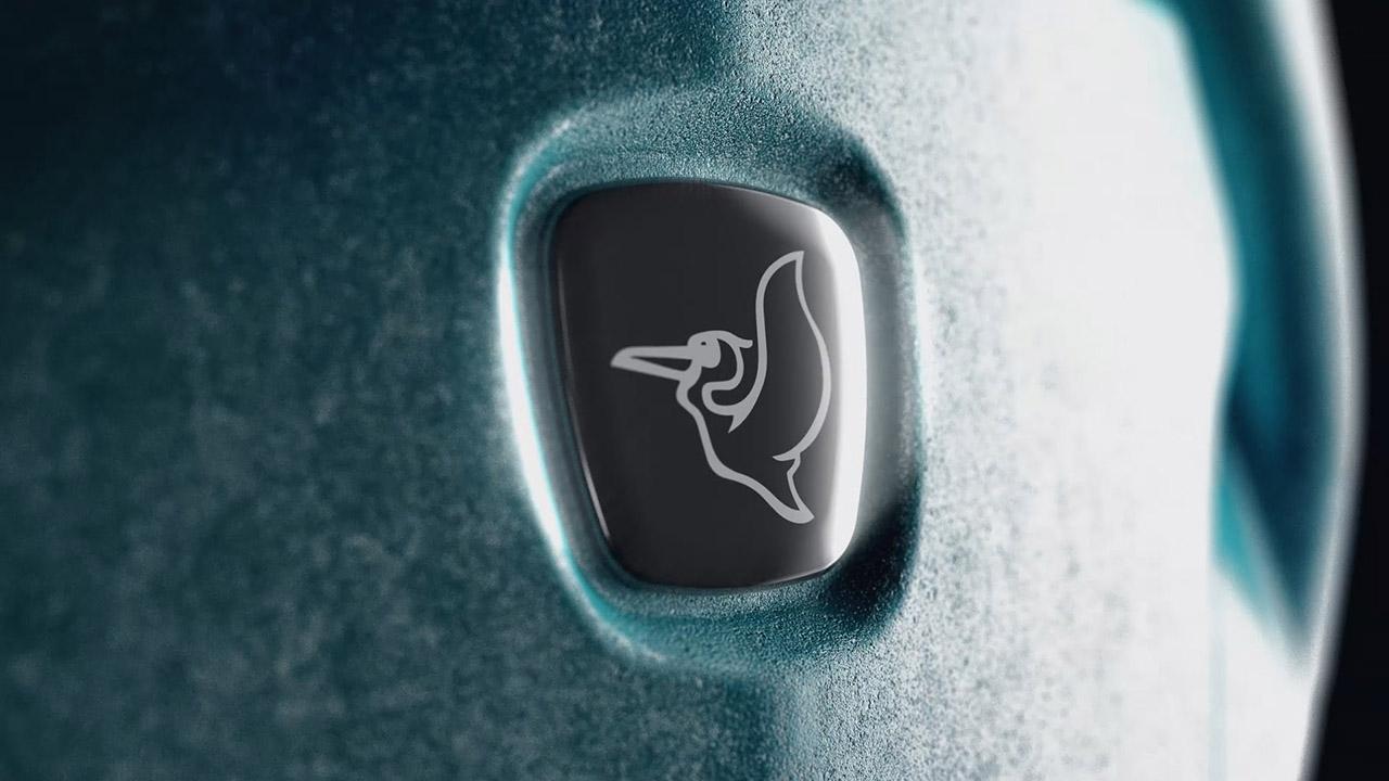 close up pelican logo animation