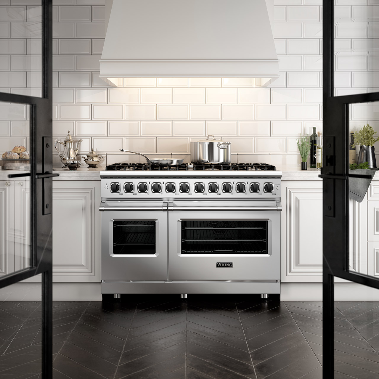 viking range white wall