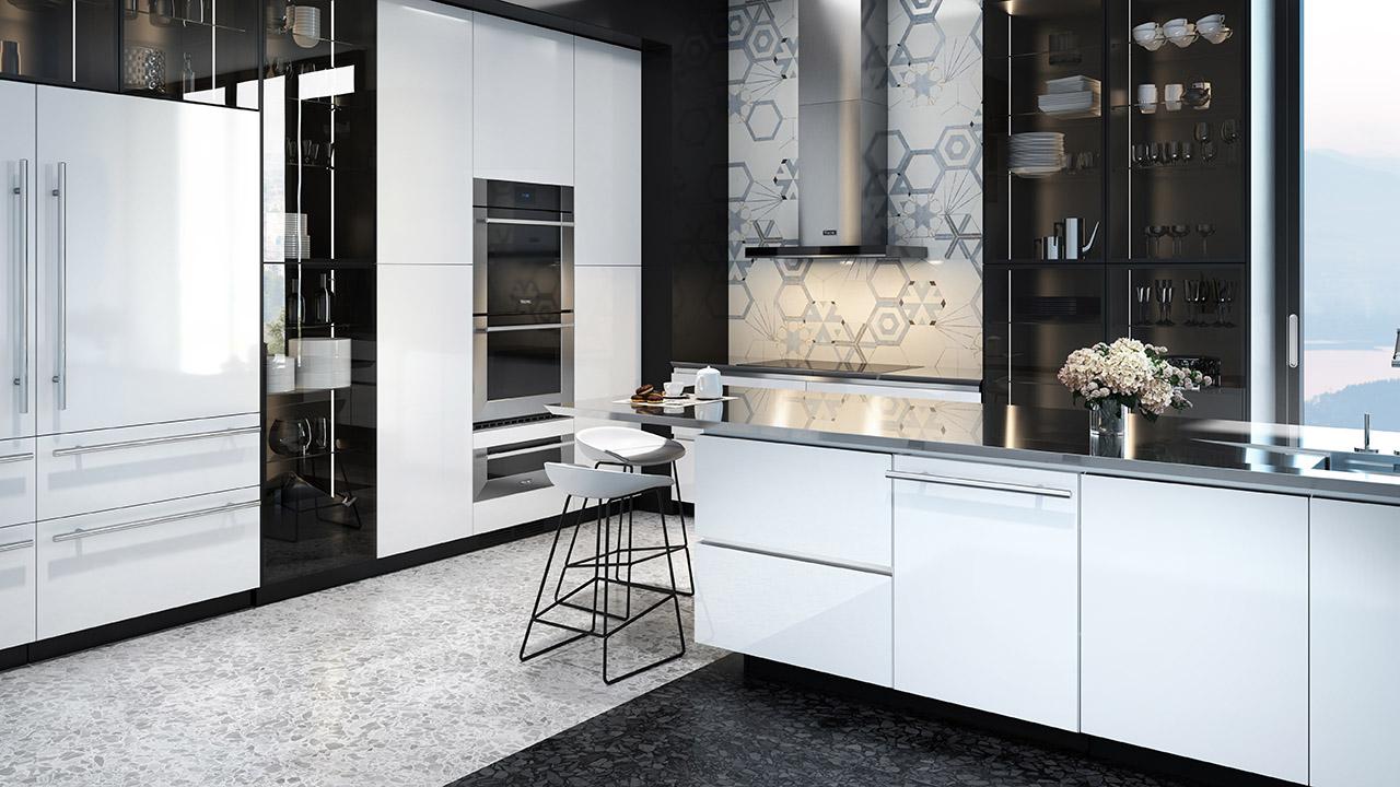 cuisine noire blanche élégante