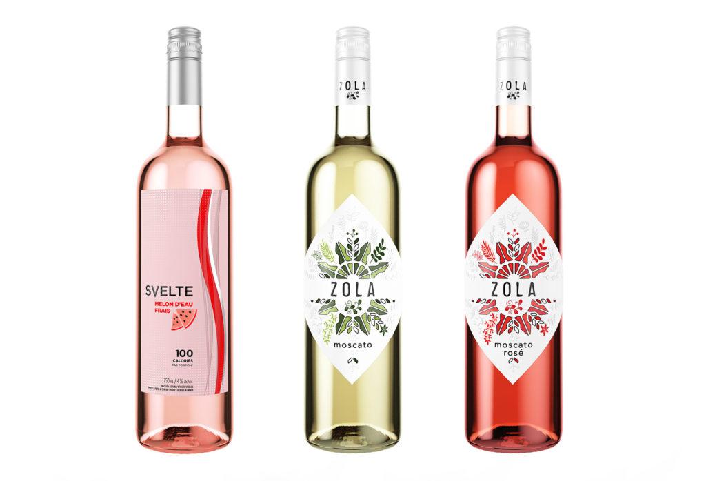 Rendu 3D bouteilles vin