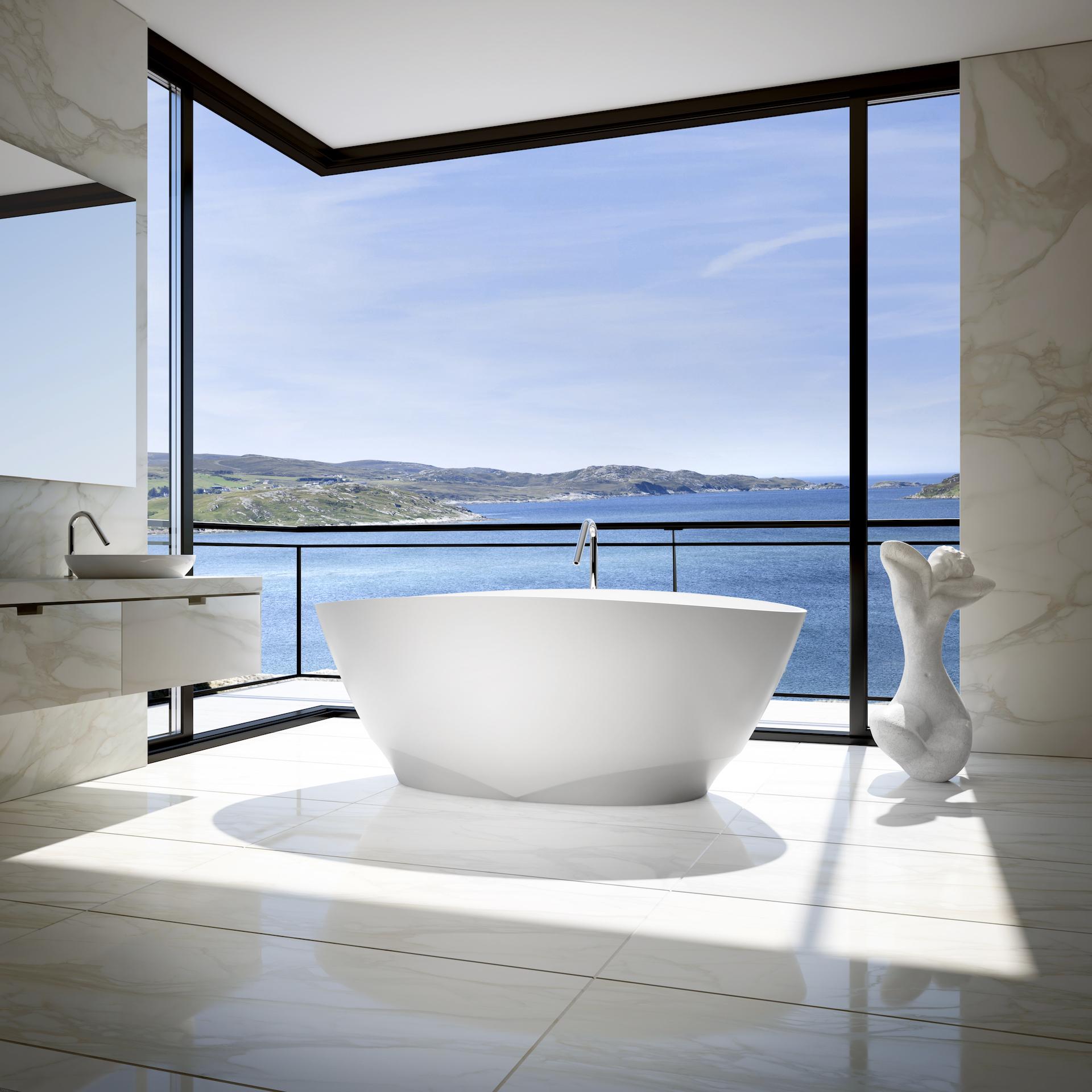 Kub Studio produit des images d'ambiance pour valoriser des produits tel cette baignoire de Bain Ultra